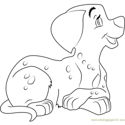 Dalmatians by WolfNikki Free Coloring Page for Kids