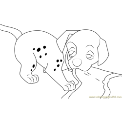 Disney Dalmatian Free Coloring Page for Kids