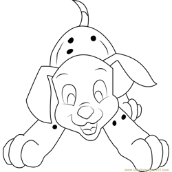 Little Dalmatian Free Coloring Page for Kids