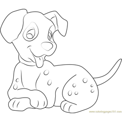Look at Me Free Coloring Page for Kids