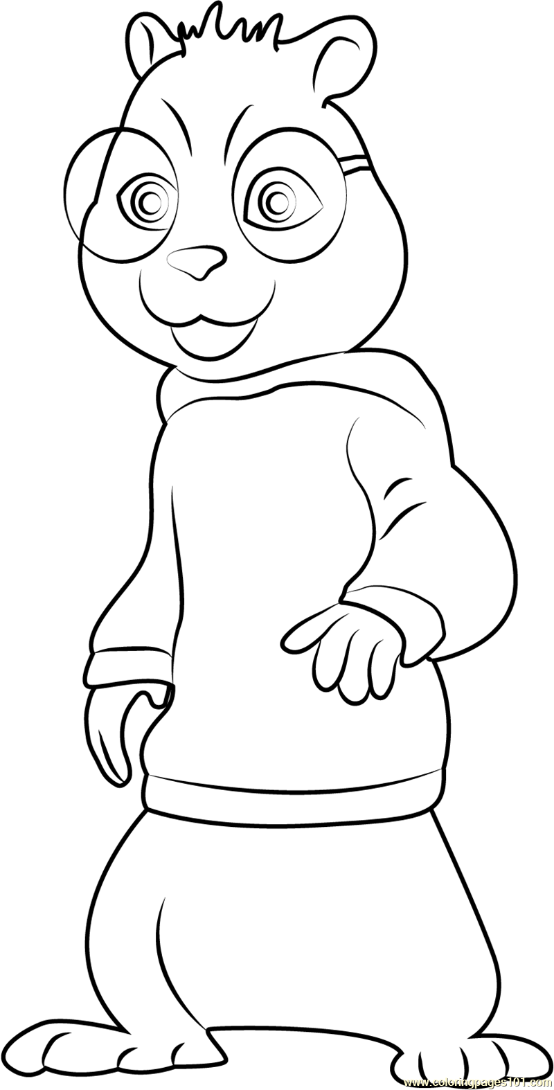 Free Print out Alvin and the Chipmunks Theodore Seville coloring ... | 1574x800