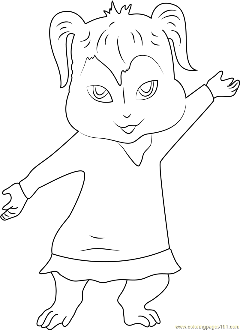 Elinor chipmunk free colouring pages for Chipmunks coloring pages