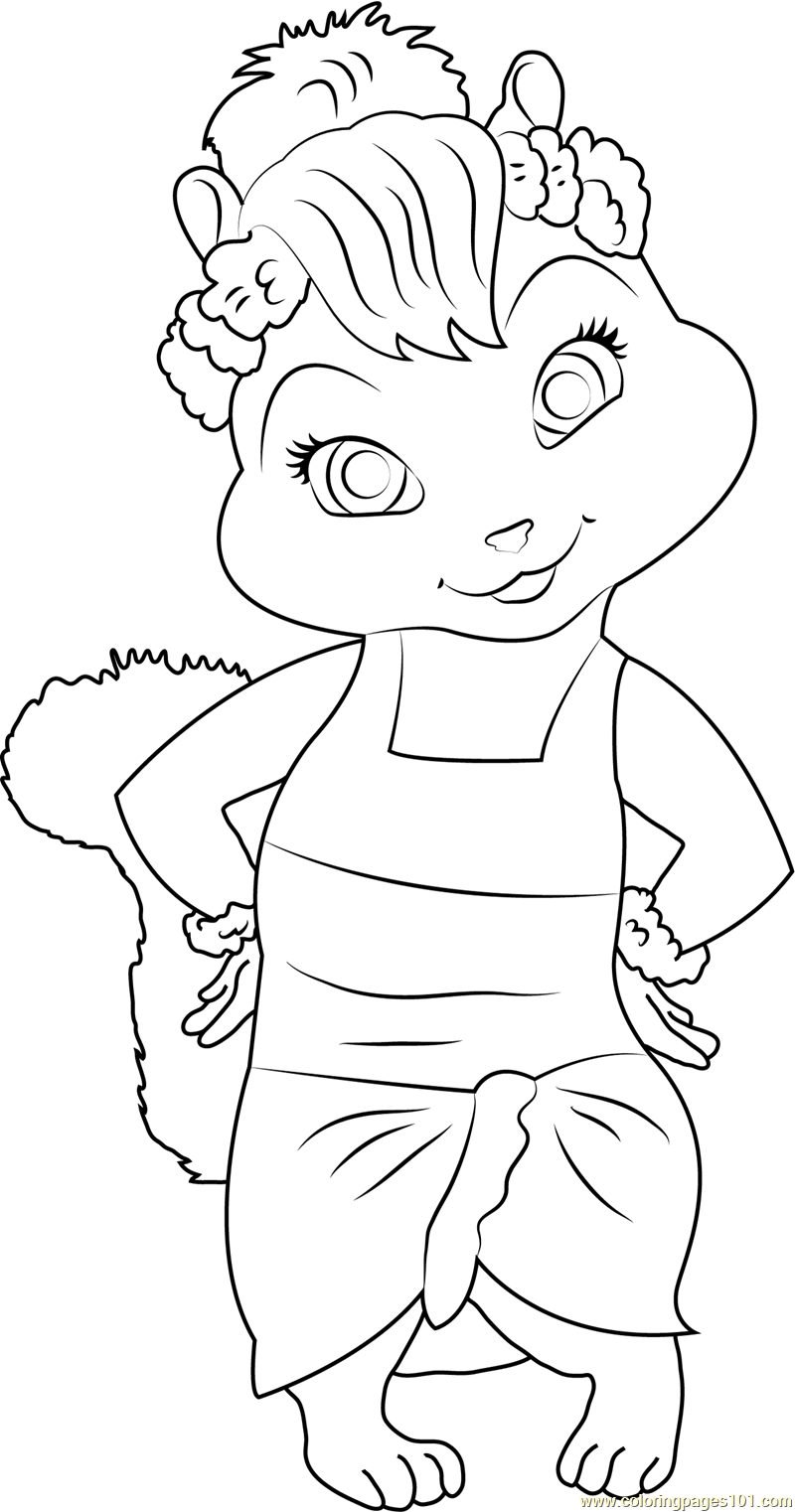 jeanette coloring page free alvin and the chipmunks