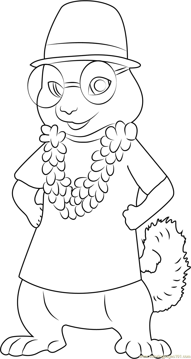 simon chipwrecked coloring page