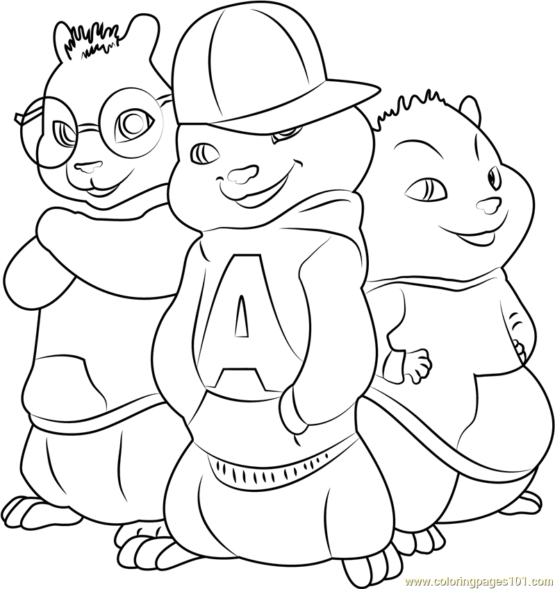 coloring pages the chipmunks - photo#22