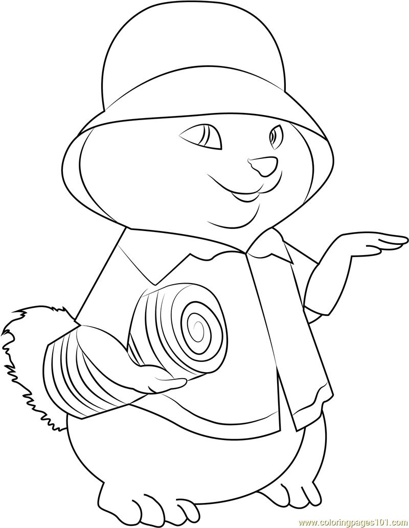 Theodore Alvin And The Chipmunks Coloring Page