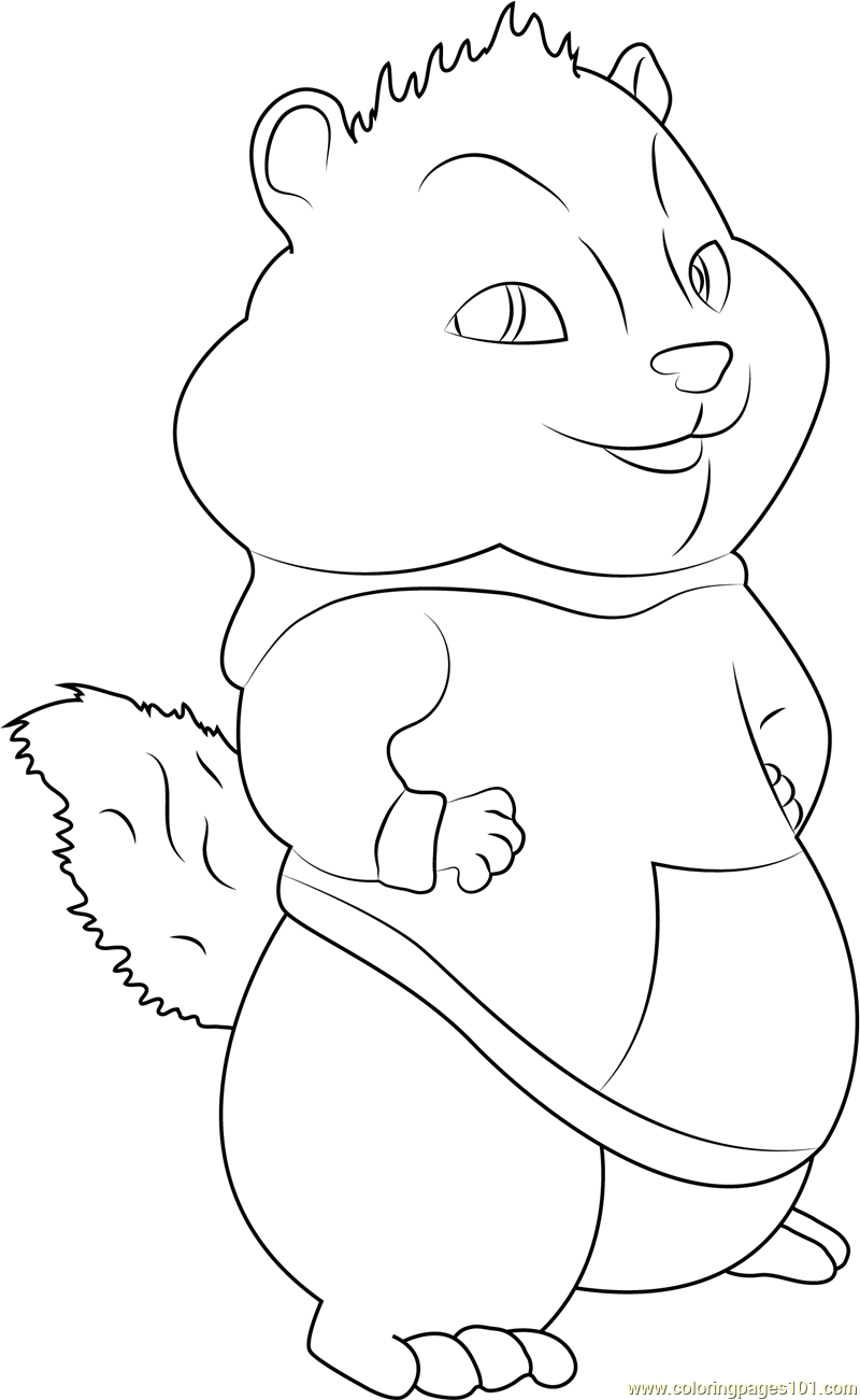 Theodore Coloring Page - Free Alvin and the Chipmunks ...
