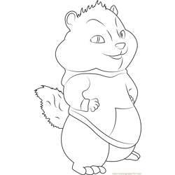 theodore - Theodore Chipmunk Coloring Pages