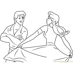 Anastasia Dance Love and See Free Coloring Page for Kids