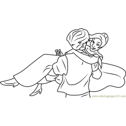 Anastasia Dancing Free Coloring Page for Kids