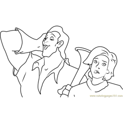Gaston and Anastasia Free Coloring Page for Kids