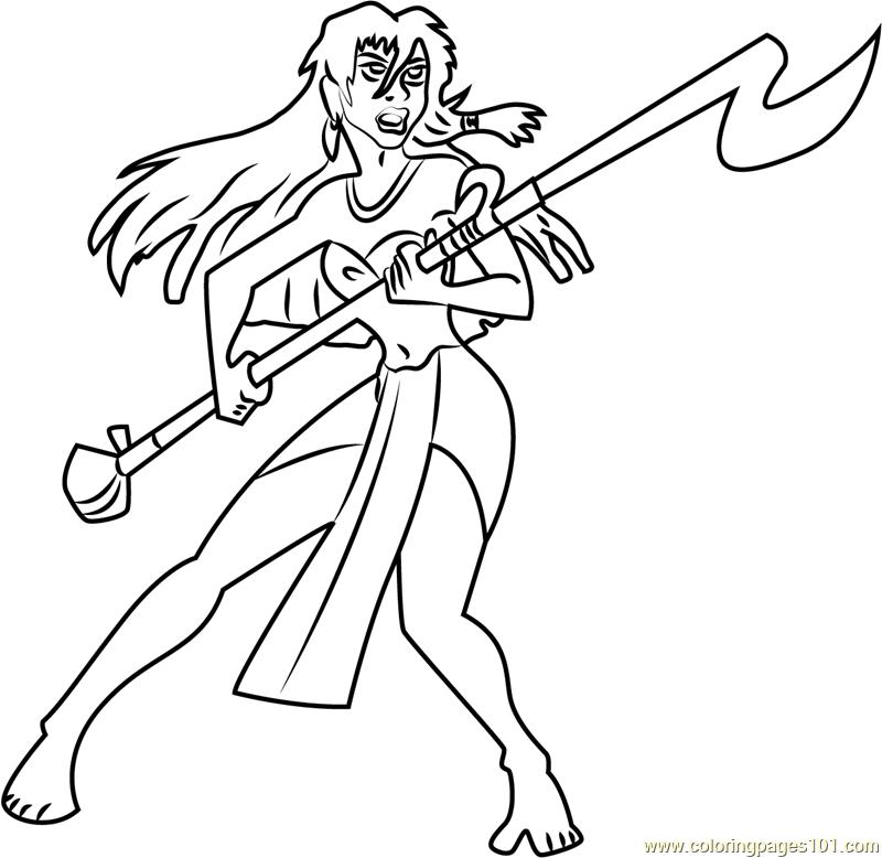 Angry Princess Kida Coloring Page
