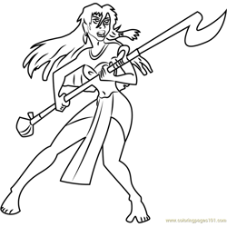 Angry Princess Kida Free Coloring Page for Kids