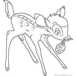 Bambi Thumper Free Coloring Page for Kids