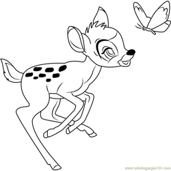 Bambi Free Coloring Page for Kids