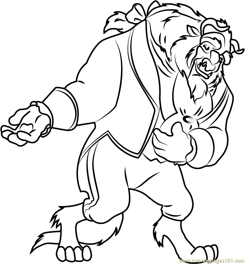 See me Coloring Page - Free Beauty and the Beast Coloring ...Beauty And The Beast Coloring Page Beast