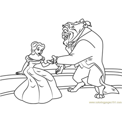 Beast Free Coloring Page for Kids