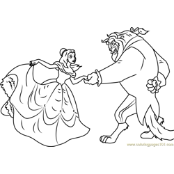 Dancing Free Coloring Page for Kids