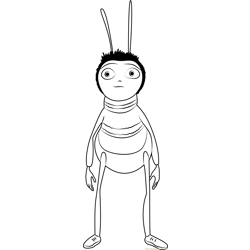 Bee Standing coloring page