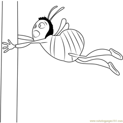 Bee Free Coloring Page for Kids