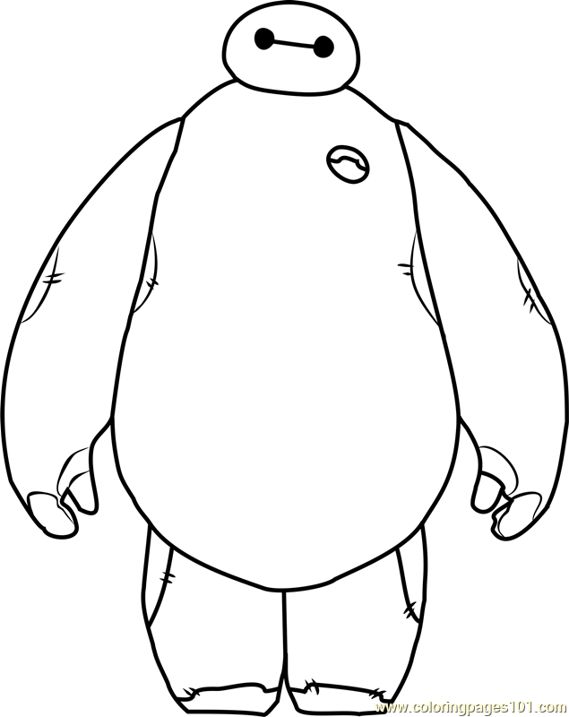 Baymax Coloring Pages - Coloring Home | 800x635