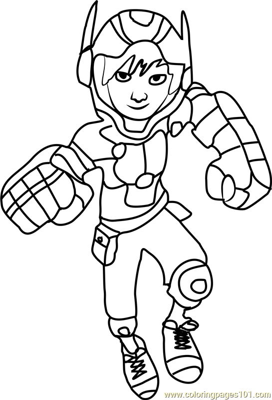 big hero 6 coloring pages hiro - photo #1