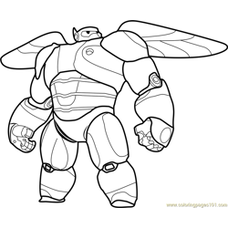 Baymax Armor coloring page