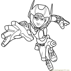 Hiro Action coloring page
