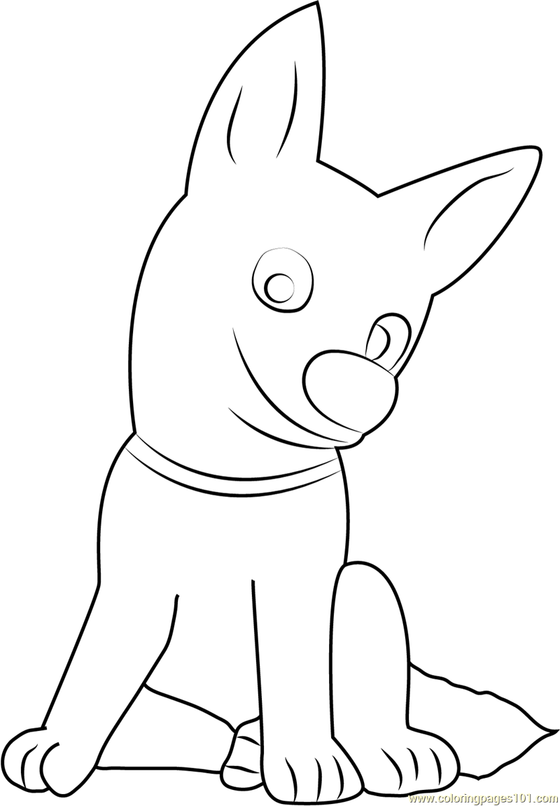 Bolt Sitting Coloring Page - Free Bolt Coloring Pages ...