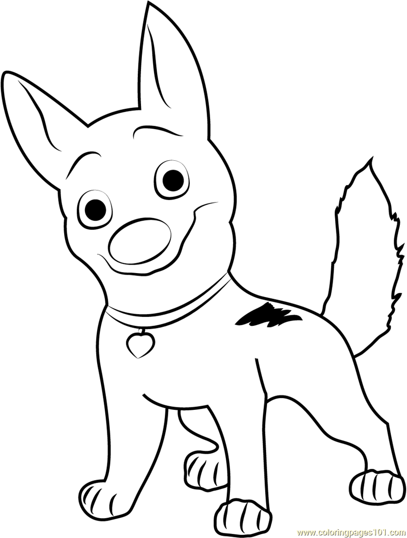 Happy Bolt Coloring Page