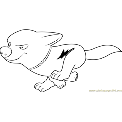 Bolt Running Free Coloring Page for Kids
