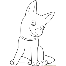 Bolt Sitting Free Coloring Page for Kids