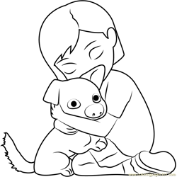 Bolt and Penny Free Coloring Page for Kids