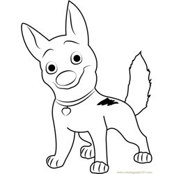 Happy Bolt Free Coloring Page for Kids