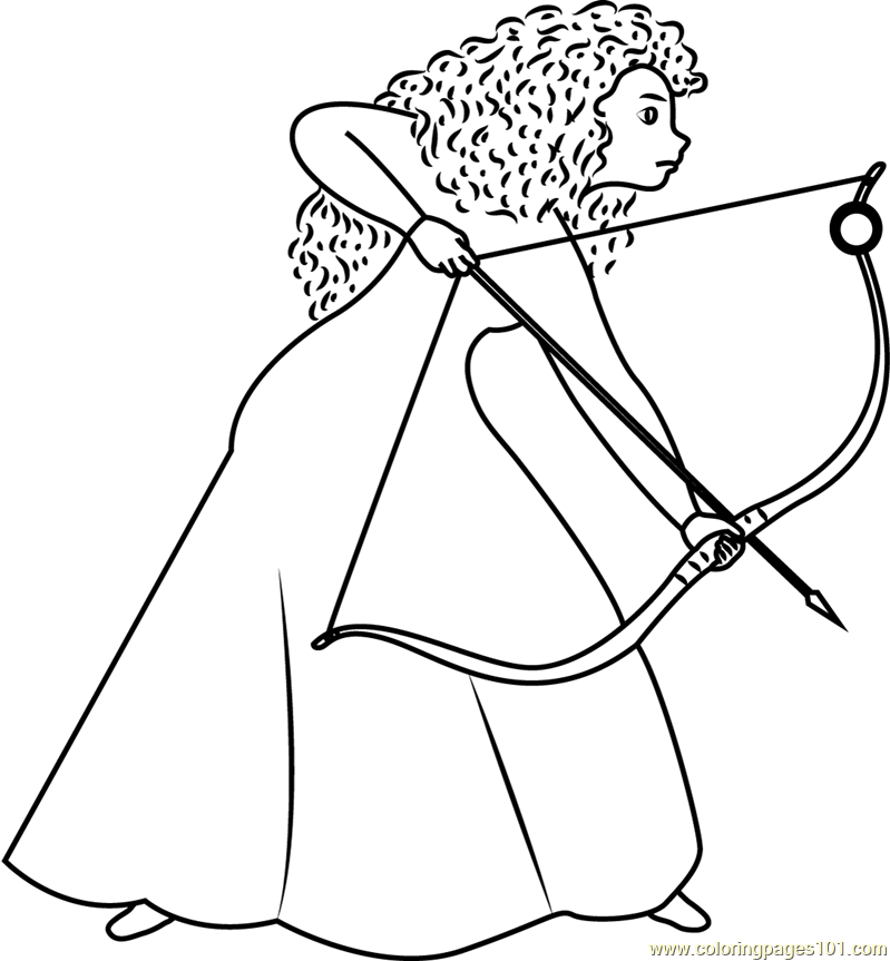 A girl with long curly red hair coloring page free brave Cool Coloring Pages Sister Coloring Pages Powerpuff Girls Coloring Pages
