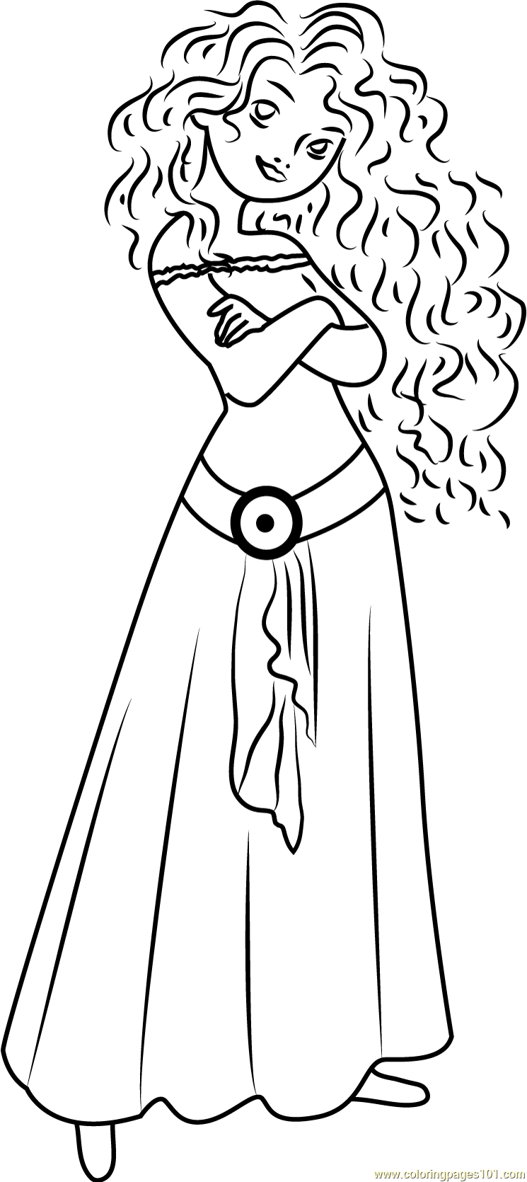 Cute Merida Coloring Page