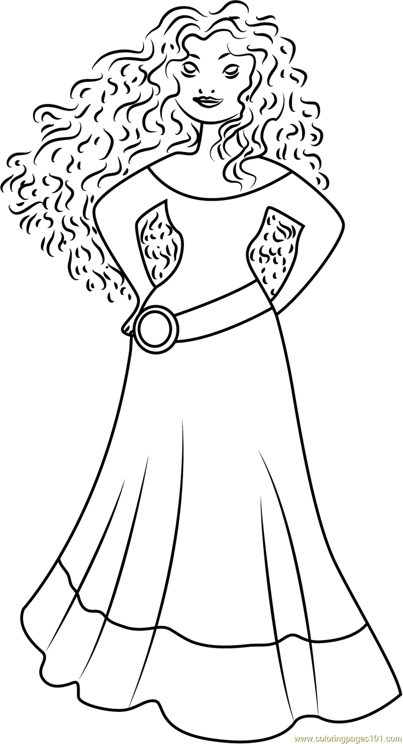 Coloring Pages Princess Merida : Princess merida coloring page free brave pages