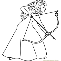 A Girl with Long Curly Red Hair Free Coloring Page for Kids