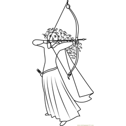 Merida Scottish Princess coloring page