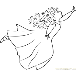 Young Merida coloring page