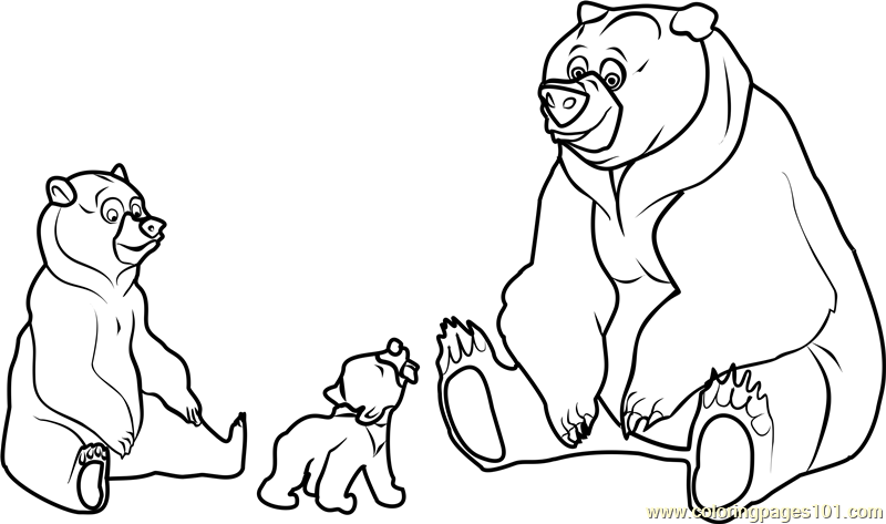 Brother Bear Movie Coloring Page