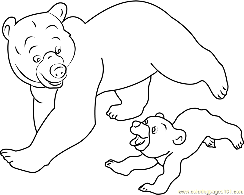 brother bear running coloring page free brother bear