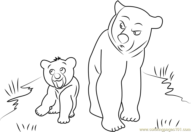 Brother Bear See Coloring Page