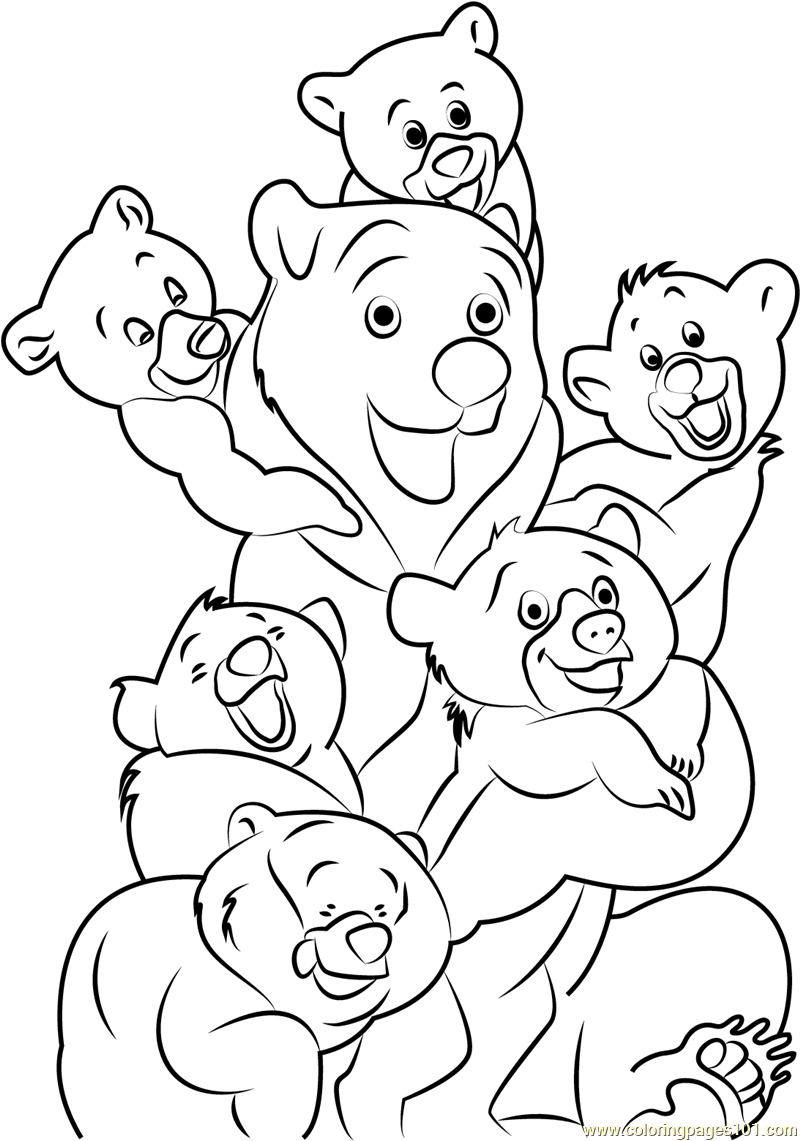 Luxury Brother Bear Koda Coloring Pages Mold - Coloring Pages Of ...