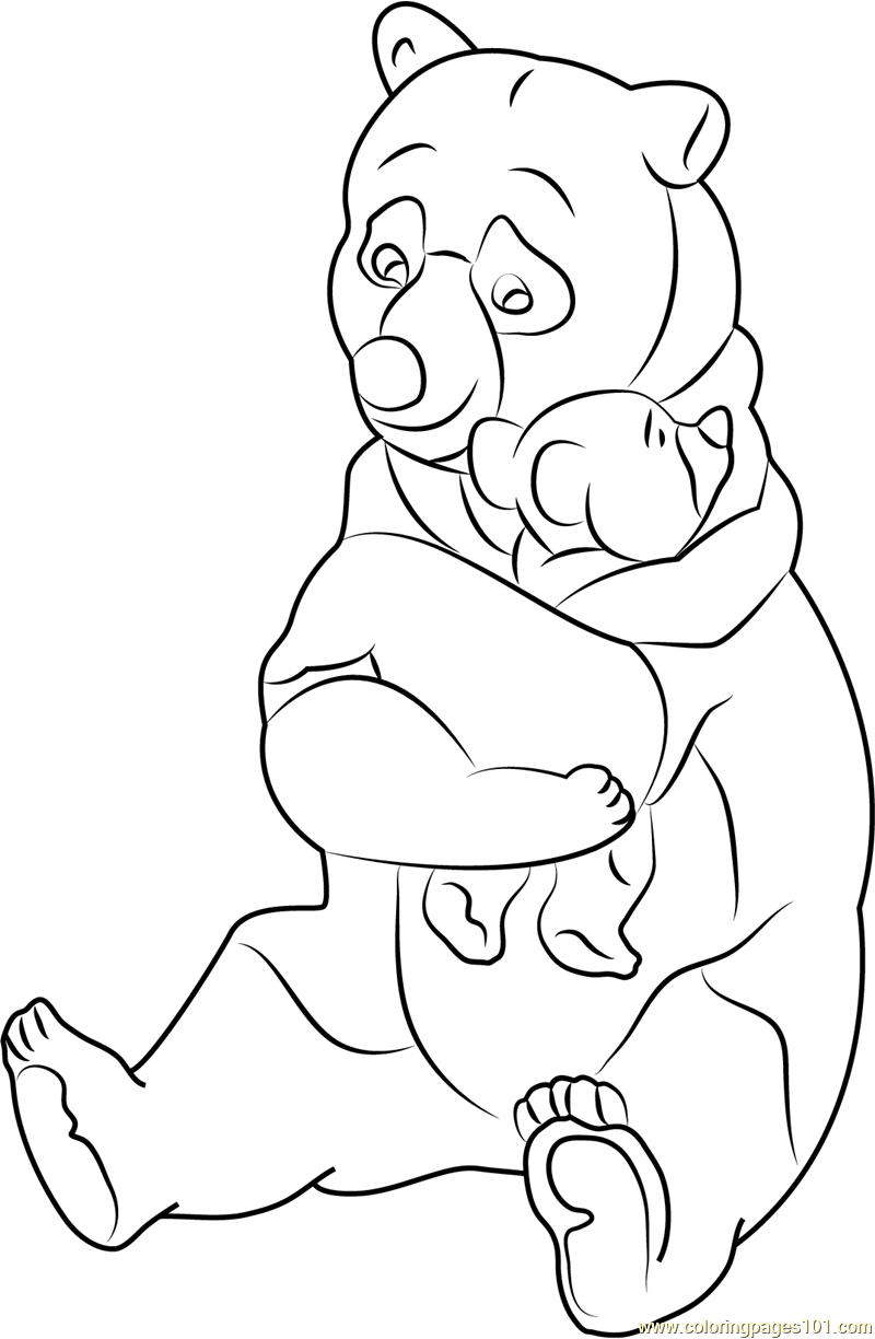 Old Lady Bear Coloring Page