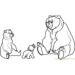 Brother Bear Movie Free Coloring Page for Kids