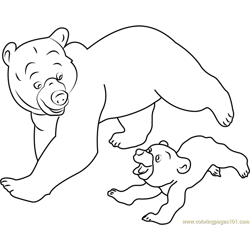 Brother Bear Running coloring page
