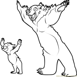 Brother Bear Free Coloring Page for Kids