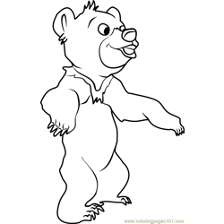 Koda Bear Free Coloring Page for Kids