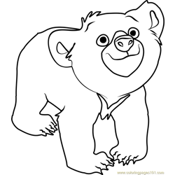 Koda Free Coloring Page for Kids
